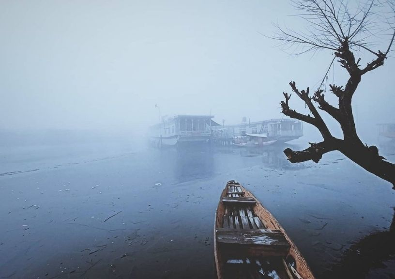 Frozen Dal Lake